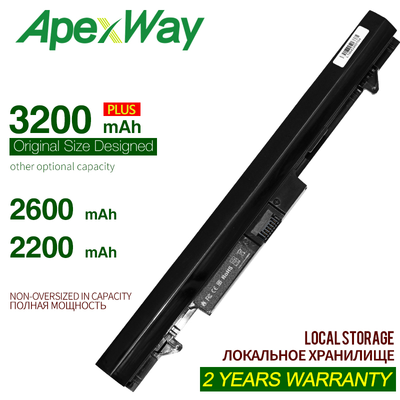 ApexWay 2200mAh 14.8V Laptop Battery For HP  ProBook 430 G1 G2 RA04 H6L28ET  HSTNN-IB4L H6L28AA
