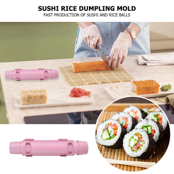 DIY Sushi Maker Roller Rice Ball Mold Bazooka Vegetable Meat Rolling Tool Household Rice Ball Making Machine For Kitchen image