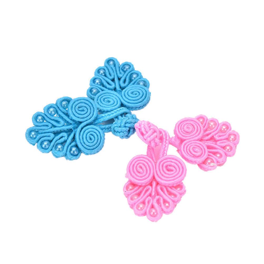 Çince düğüm düğmesi yüksek kaliteli fantezi düğmeler 4 adet/grup birçok renk çin el yapımı kurbağa kapaklar girdap boncuk ile