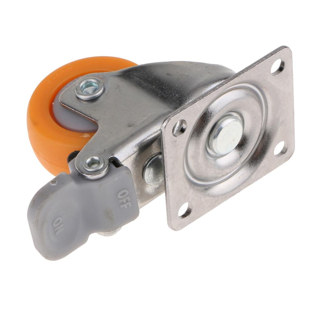 O rodízio resistente do giro de 1.25 polegadas roda a placa superior de 720 graus com capacidade do freio 17kg-5
