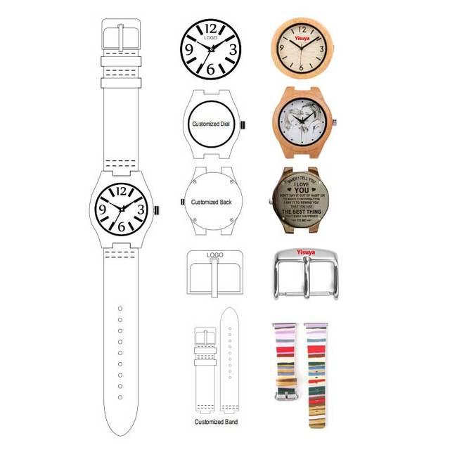 Femmes Bracelet montres rouge marron couleur pleine en bois élégant petit cadran dame montre-Bracelet en bois Bracelet de luxe marque horloge cadeau