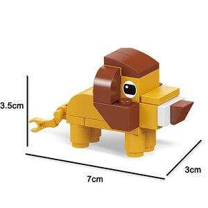 Image 3 - 동물의 세계 12 in 1 빌딩 블록 벽돌 세트 코끼리 사자 호환 Lepining 생성자 어린이를위한 교육 장난감