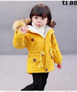 Image 2 - OLEKID 2020 סתיו חורף מעיל ילדה בתוספת קטיפה ברדס תינוק צמר מעיל 3 10 שנים ילד ילד הלבשה עליונה מעיל ילדי Parka