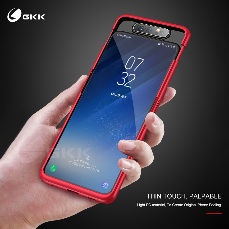 GKK Case for Samsung A80 Case 360 Full Protection With Tempered Glass 3 in 1 Matte Hard Cover For Samsung Galaxy A80 case fundas image