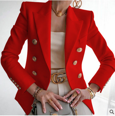 2020 ladies autumn solid color blazer single breasted slim fit jacket casual formal jacket