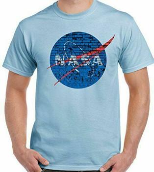 Koszulka Nasa Sheldon Cooper ściana z cegły w trudnej sytuacji mężczyźni Nerd Geek Space tanie i dobre opinie Podróż TR (pochodzenie) Cztery pory roku Z okrągłym kołnierzykiem SHORT normal COTTON Na co dzień Znak