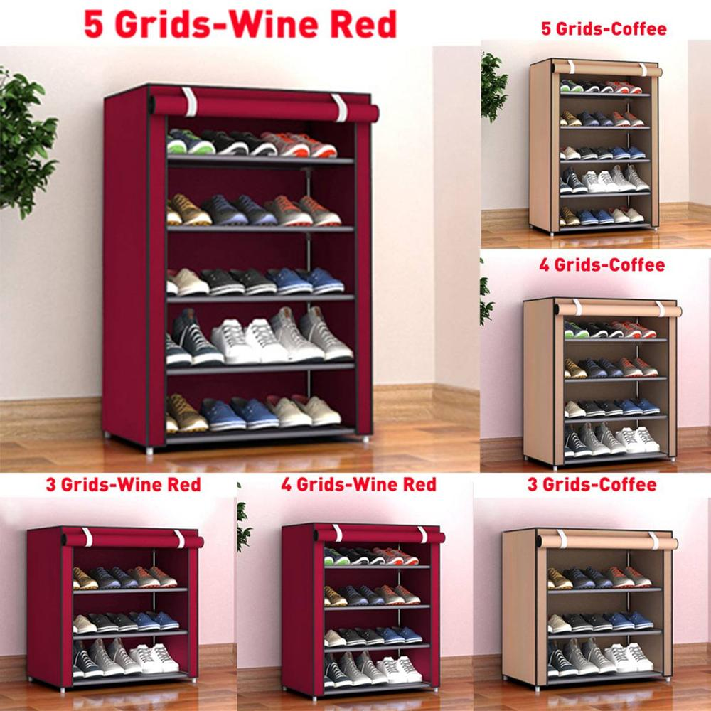Multi-layer Dustproof Cloth Shoe Cabinet DIY Combination Assembly Shoe Storage Rack Household Finishing Shelves Home Furniture