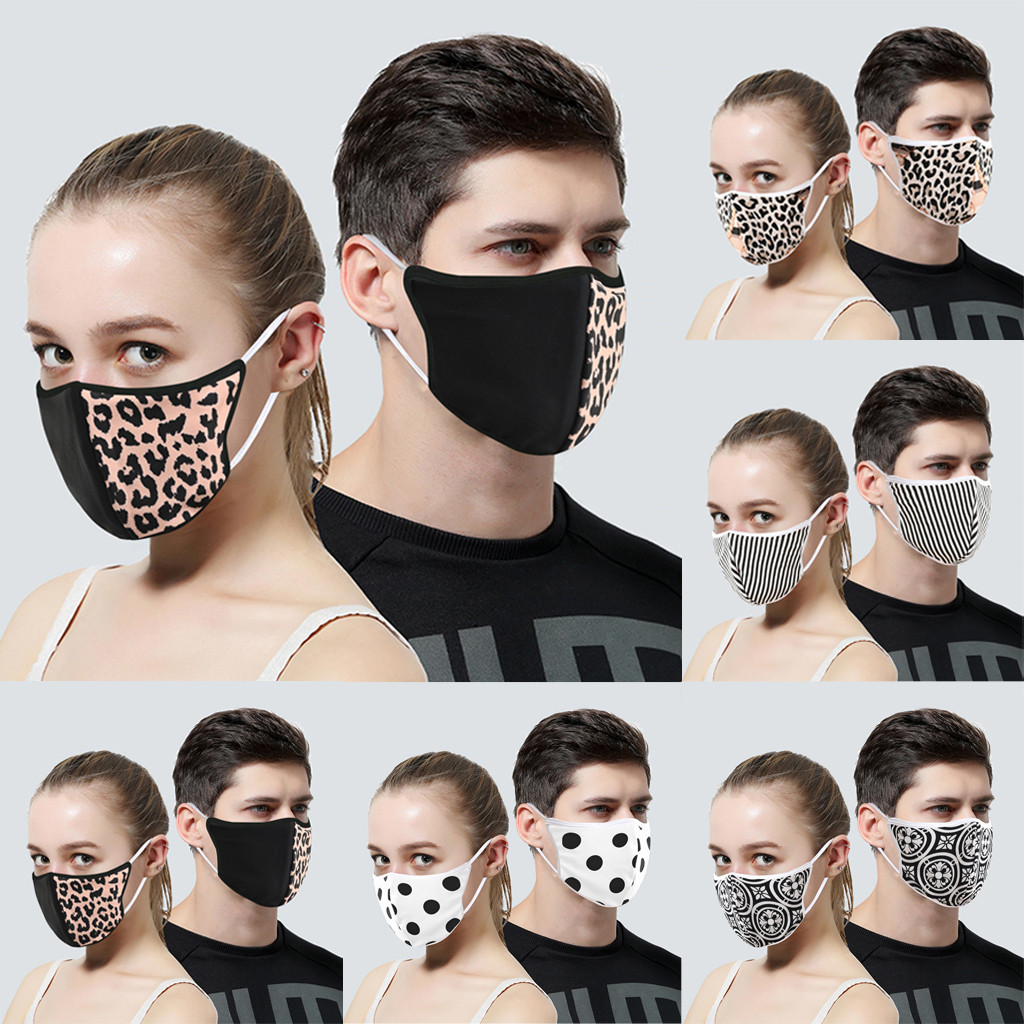 Hce8b63060ba34117b66117bad61a58738 In Stock Men Women Adult Outdoor Print Washable Print Breathable Face Cotton Mouth Reusable Earloop Mouth-muffle Health Care