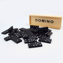 Building Dominoes-Set Game-Blocks Learning-Educational-Toy Wooden Entertainment Dot Travel
