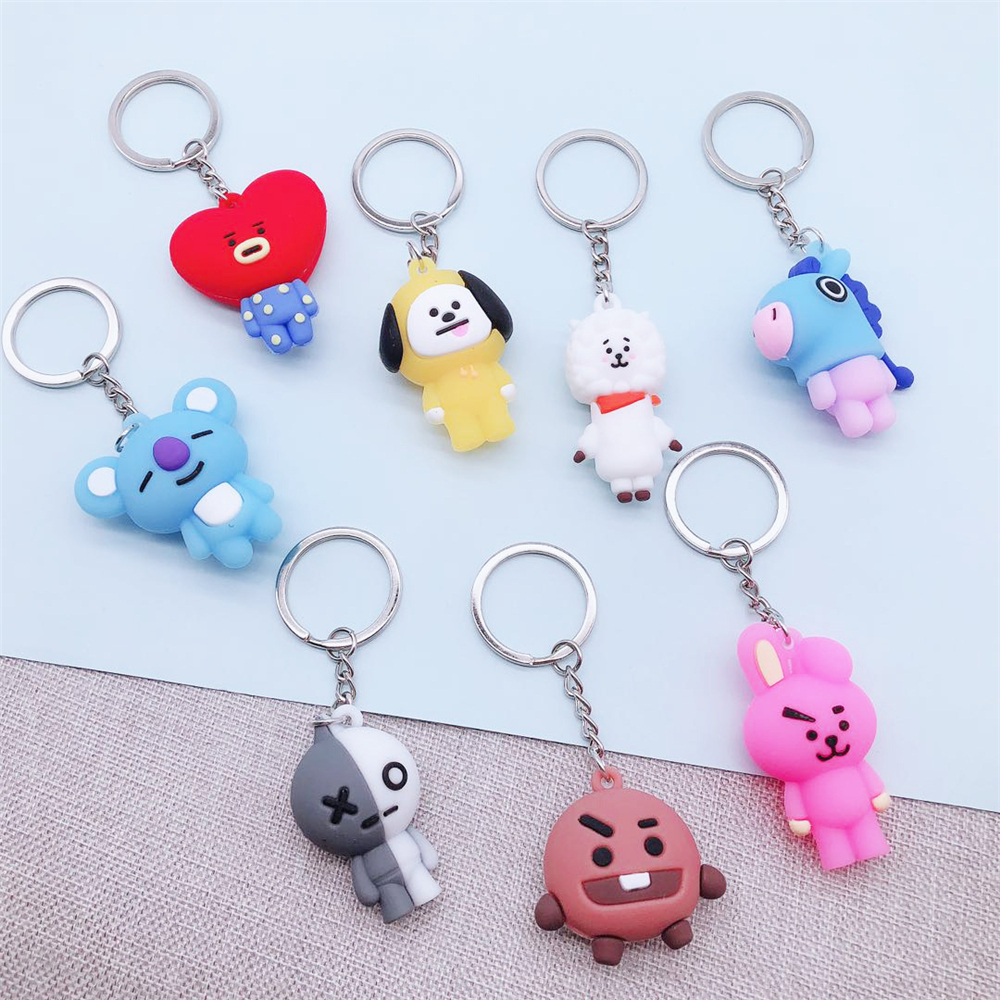 Cartoon Keychain Pendant Doll Key-Ring Korean Bangtan Boys Personalized Women Cute