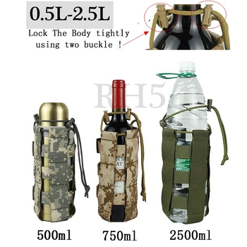 2020 New Tactical Molle Water Bottle Pouch Oxford Military Canteen Cover Holster Outdoor Travel Kettle Bag With Molle System camping sports water bag new outdoor tactical military molle system bottle bag kettle pouch holder