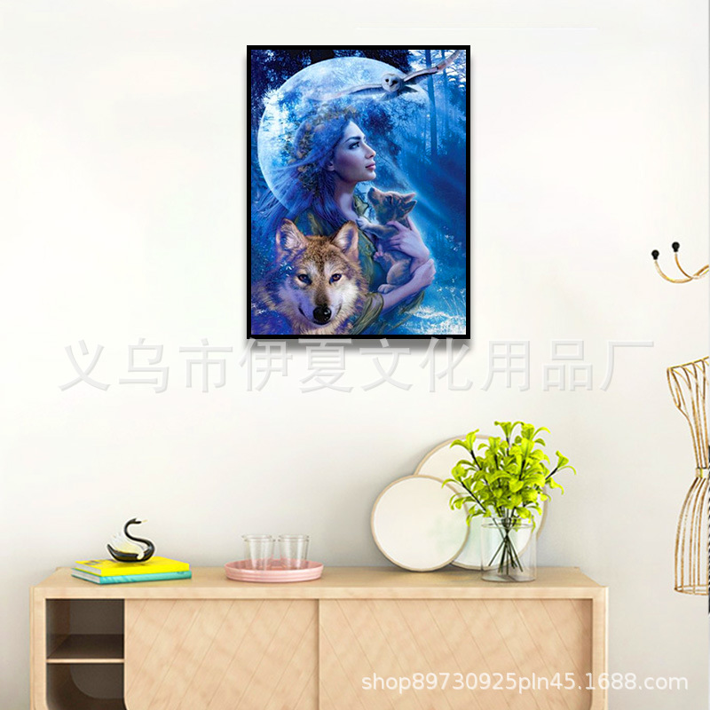 DIY Digital Oil Painting Supply Electricity Supplier Home Decoration Scenery Oil Painting Figure Painting 40*50 Manufacturers Di