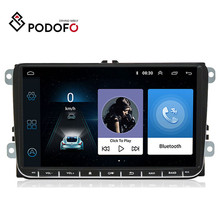 "Podofo 9 ""안드로이드 6.0 자동차 GPS 네비게이션 멀티미디어 플레이어 2 딘 라디오 폭스 바겐 Passat 골프 MK5 MK6 제타 T5 EOS 폴로 Touran 좌석"