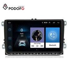 "Podofo 9 ""Android 6.0 araba GPS navigasyon multimedya oynatıcı 2 din radyo VW Passat Golf MK5 MK6 Jetta t5 EOS POLO Touran koltuk"