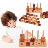 For Montessori Teaching Aids Beaded Puzzle Wooden Toys Children's Digital Beaded Montessori Math Teaching Aids Brain Game