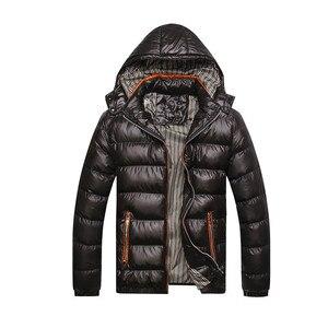 Image 3 - Cotton Padded Winter Jacket Men Loose Coat 2020 Warm Even Hat Parka Man Plus Size 6XL 7XL Leisure Mens Black Blue Jacket Orange