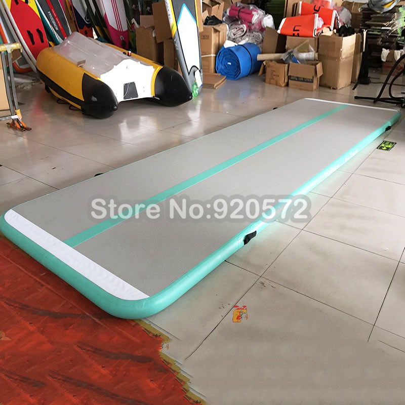 Free Shipping Free One Pump 4x1x0.2m Popular Inflatable Gymnastics Mat/Gym Mat/Inflatable Air Track