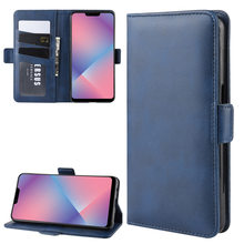 Simple Business Wallet Flip Double buckle PU Leather Case For OPPO A5 A1K AX7 Reno 10 5G A5S F9 F9 Pro Anti-fall Phone Cover(China)