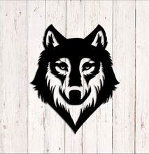 Beauty Wolf Car Sticker Vinyl Wrap Car-Styling AutoEngine Hood Motorcycle Decoration Mural Covers Autosticker Accessories(China)