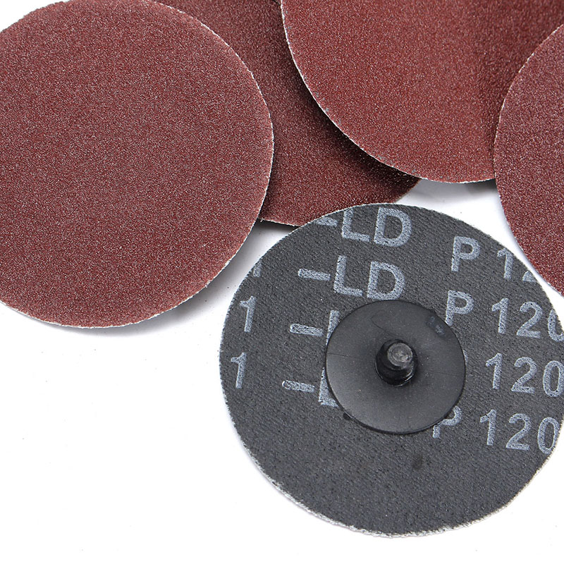 25pcs 120 Grit Sanding Disc R Type Discs Abrasive Roloc Disc Polishing Tool For Surface JA55