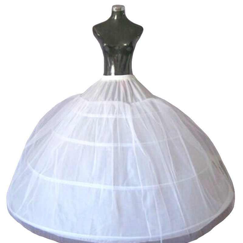 คุณภาพสูง 4 Hoops Petticoat สำหรับงานแต่งงานชุด 2018 กระโปรงสำหรับ PUFFY ชุดเจ้าสาวงานแต่งงานอุปกรณ์เสริม Crinoline ในสต็อก
