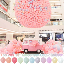 Pastel Macaroon Latex Balloons Rainbow Color DIY for Wedding Graduation Birthday Party Baby Shower Supplies D30