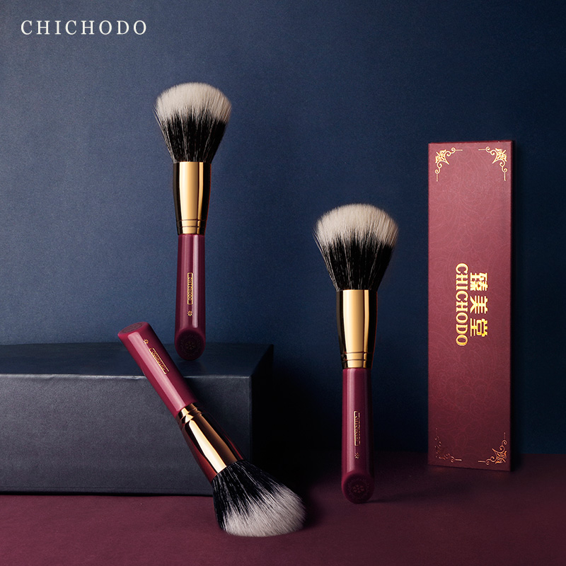 CHICHODO makeup brush-Luxurious Red Rose series-high quality goat hair powder brush-natural hair cosmetic&make up tool-beauty