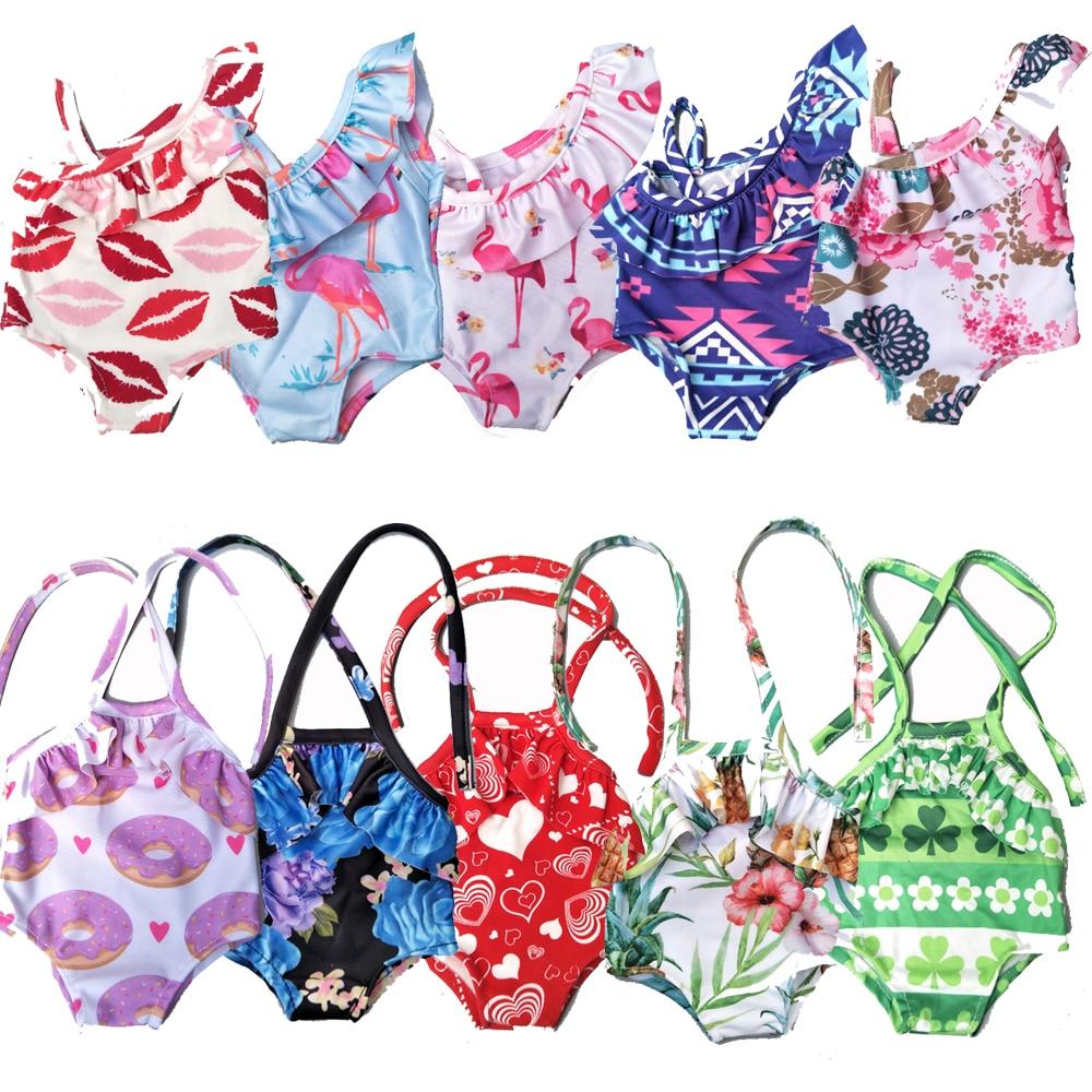Doll swim bikini for 43cm baby doll clothes 18 inch doll swimming clothes