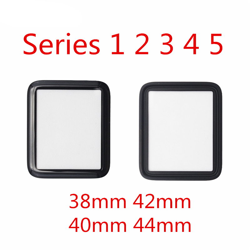 Sinbeda For <font><b>Apple</b></font> <font><b>Watch</b></font> Series 1 2 <font><b>3</b></font> 4 5 <font><b>Replacement</b></font> Front Glass Outer Lens 38mm <font><b>42mm</b></font> 40mm 44mm LCD Outer Glass Panel Repair image