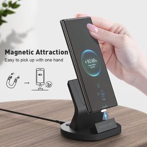Image 2 - SIKAI 11th Gen 5A Super szybkie ładowanie magnetyczny stojak do ładowania stacji dokującej kabel USB do Huawei Mate 40 Pro magnes szybka ładowarka