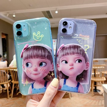 Glitter transparent Tsundere girl phone case For Honor 30 20 10 S PLAY4T 9X V30 X10 PRO LITE Shockproof ultra-thin back cover image