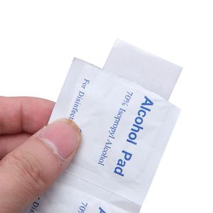 Image 5 - 100Pcs/Box Alcohol Wipe Clean Pad Medical Cotton Swab Sachet Antibacterial Tool Cleanser Cotton Buds Tip For Medical Sticks
