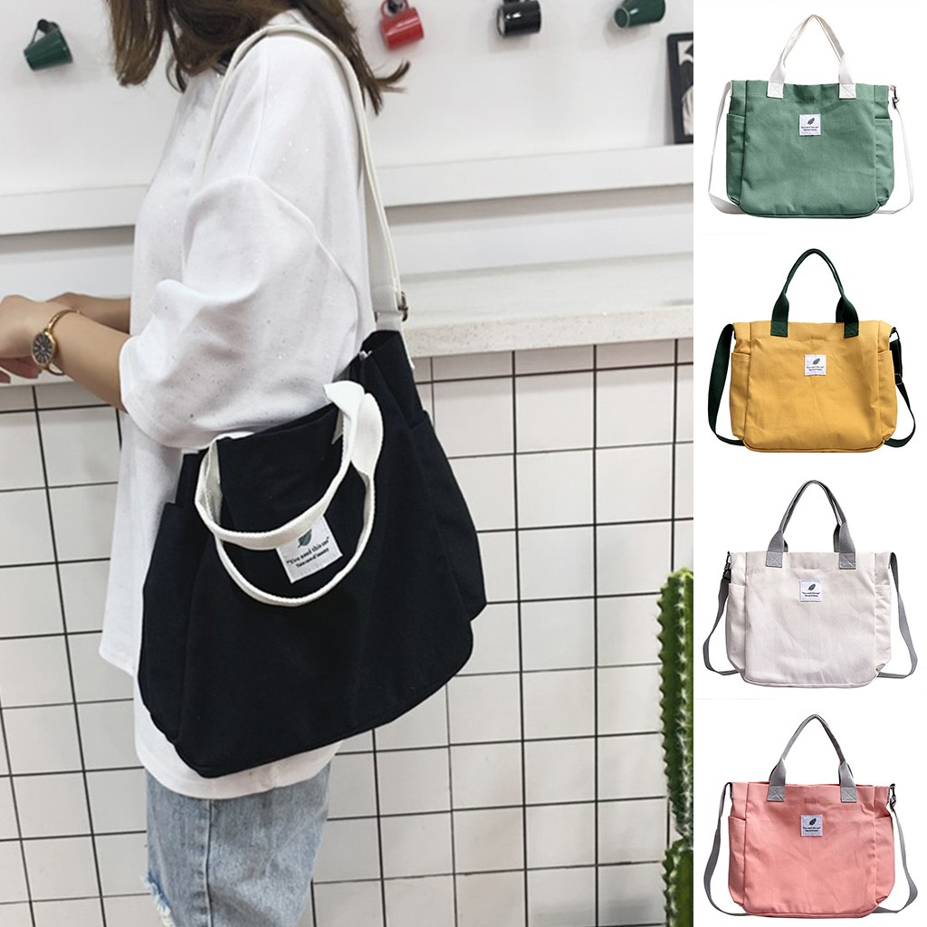 New Fashion Wild Canvas Bag 2019 Large Capacity Shoulder Shopping Bag College Stly Travel Bag Street Crossbady Sac Main Femme#25