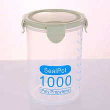 Round transparent sealed can Glass Jar Sealed Cans Kitchen Food Storage Bottle weed tobacco storage bottle jar glass sealed small jar with lid 1pcs