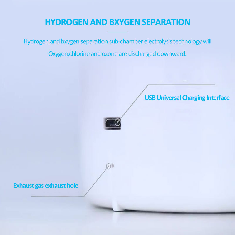 Pure H2 Max 3300ppb Hydrogen water generator with SPE&PEM Dual chamber Technology High concentration Hydrogen water bottle - 5