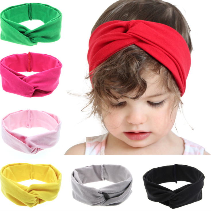 Baby Girl Headband Hair Accessories Clothes Band Bows Newborn Headwear Headwrap Turban Hairband Gift Toddlers Infant