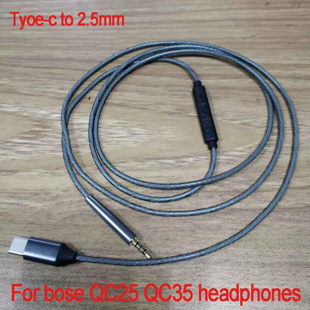 Type-c to 2.5mm Replacement Audio Cable For AKG Y40 Y50 Y45 For CREATIVE LIVE2 For Bose QC25 OE2 QC35 Headphones 23 AugT3 image