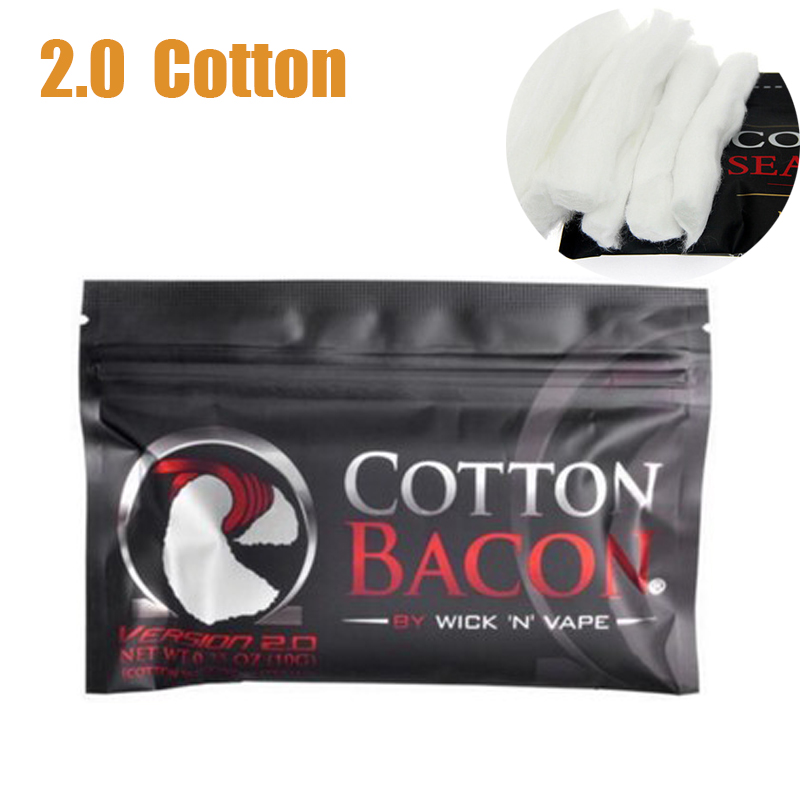 1Bag Electronic Cigarette Organic Vape Cotton Bacon Soft DIY Dream Cotton For RDA RBA Tank Atomizer Heating Wire Vape Cotton