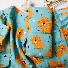 Newborn Blankets Muslin Swaddle Baby-Wrap Bamboo Elephant Animal-Pattern Cartoon Cotton