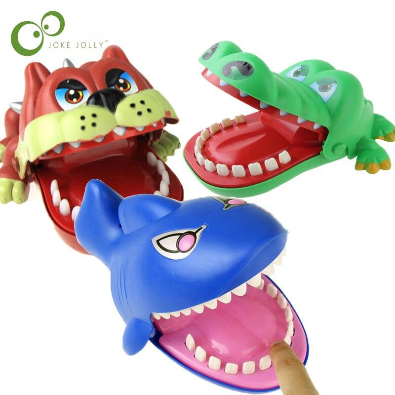 1 Uds perro tiburón, cocodrilo boca dentista mordida dedo juego divertido novedad juguete de broma para los niños divertido YJN