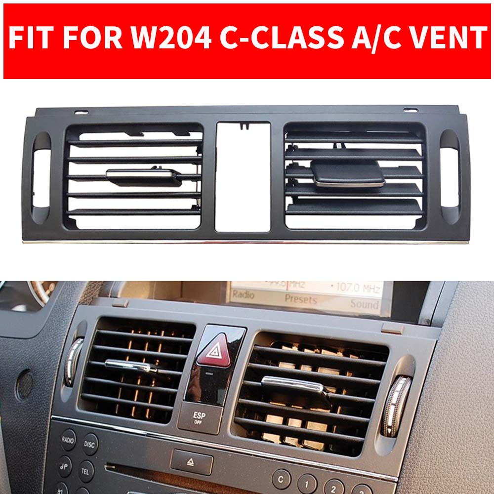 LHD RHD Car AC Front Left / Right Air Conditioner Vent <font><b>Grille</b></font> <font><b>W204</b></font> Panel Cover Outlet For Mercedes <font><b>Benz</b></font> C-Class C180 C200 GLK300 image
