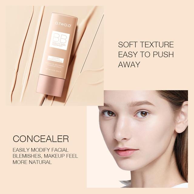 O.TWO.O Makeup BB Cream White  Cosmetics Natural Whitening Cream Waterproof Makeup Base Liquid Foundation Professional Cosmetics 3