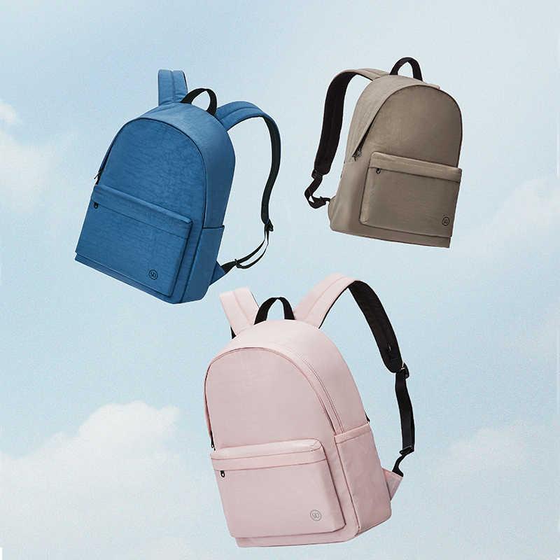 NINETYGO 90FUN genç kolej sırt çantası 15L kapasiteli çanta kızlar ve erkekler için renkli çift mochila moda hafif okul çantası