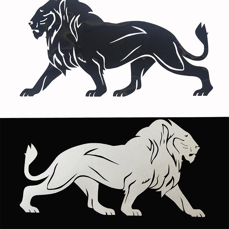 Mighty Lion 19CM  Car Sticker Reflective Vinyl Decal Car Decoration Styling Accessories