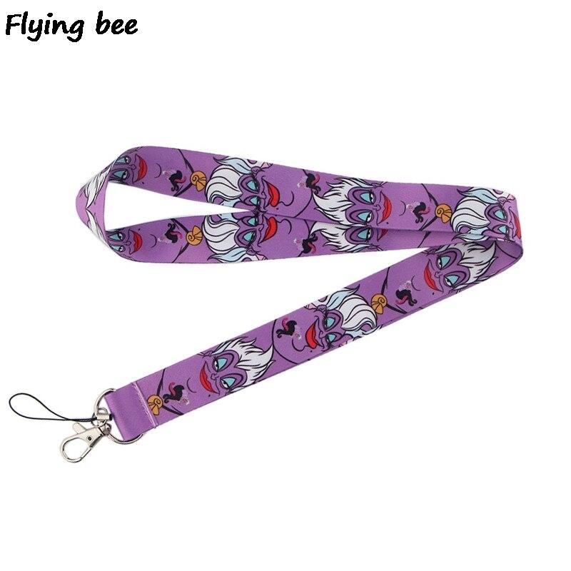 Flyingbee Keychain Cartoon Funny Phone Lanyard Women Fashion Strap Neck Lanyards For ID Card Phone Keys X0518