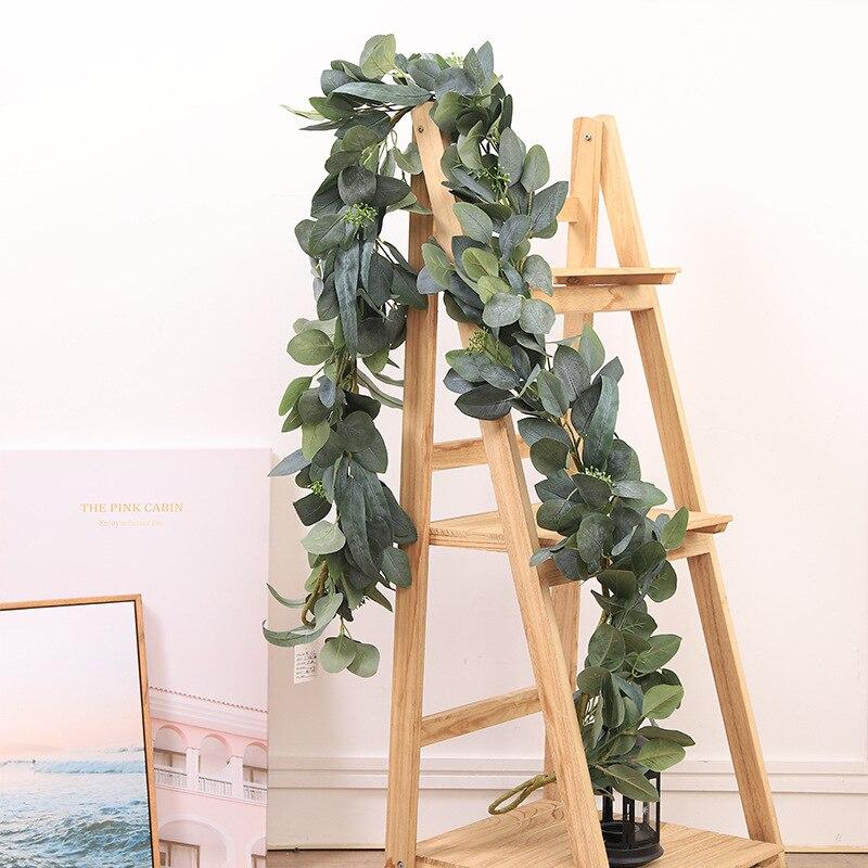 Искусственный эвкалипт, искусственный Шелковый эвкалипт из ротанга, зелень, искусственные растения