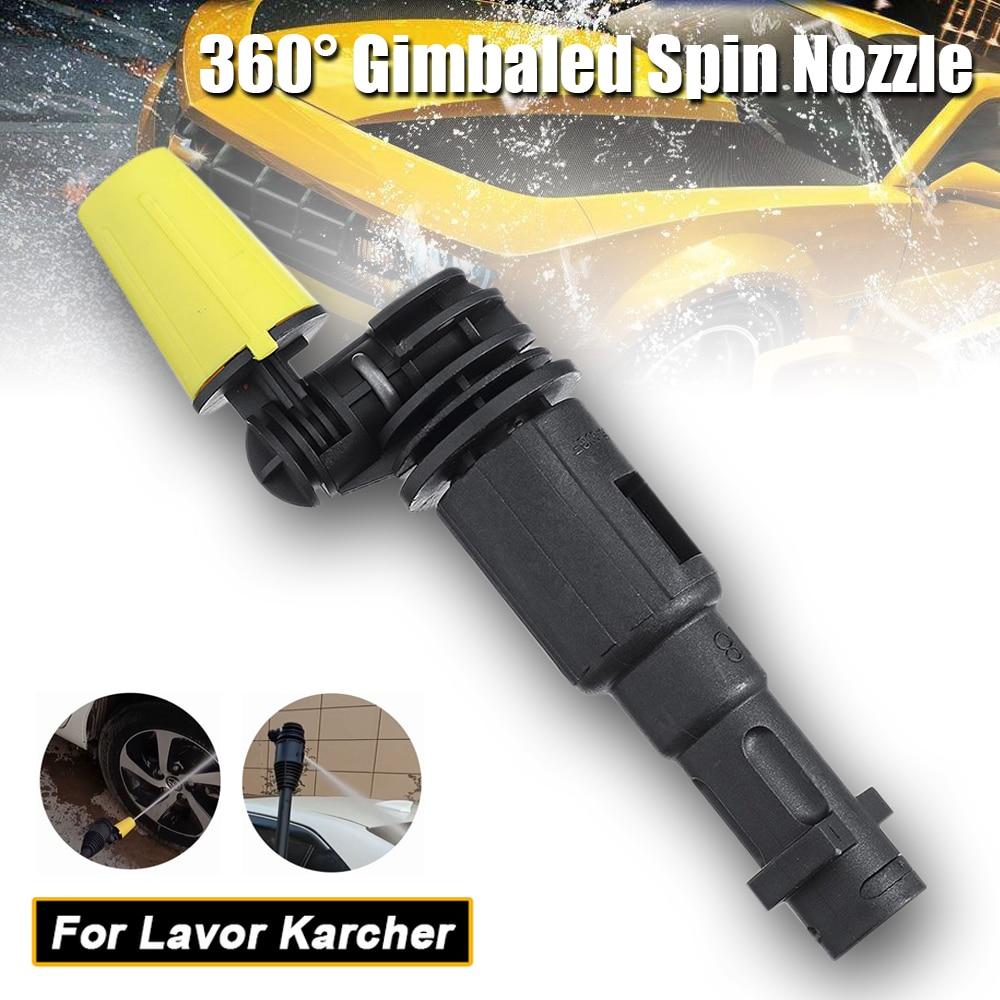 Punte del pulitore ad alta pressione degli ugelli della rondella di rotazione Gimbaled di 360 ° di JUNGLEFLASH misura per Lavor per la K2-K7 dell'ugello di Karcher