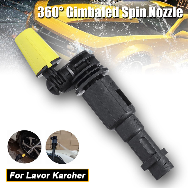 JUNGLEFLASH 360° Gimbaled Spin Washer Nozzles High Pressure Cleaner Tips Fit For Lavor For Karcher Nozzle K2 K7