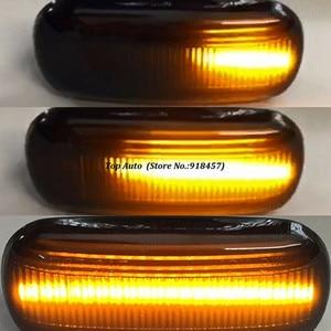 Image 3 - 2 قطعة Led ديناميكية الجانب ماركر بدوره مصباح إشارة متسلسل الوامض مصباح لأودي A3 8P A4 B6 B7 A8 A6 S6 C5 C6 4f قبل عمليات تجميل