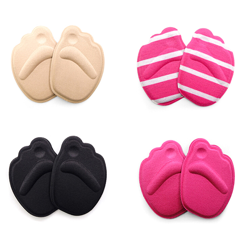 4PCS=2Pairs Shoes Sponge Pads High Heel Soft Insert Forefoot Insoles Anti-Slip Foot Protection Women Shoes Insert Cushion